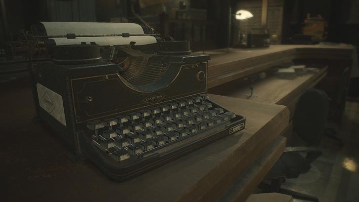 在遊戲裡,打字機是用來儲存遊戲進度的。