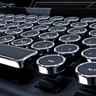 鍵盤外殼和鍵帽都是鋁合金製