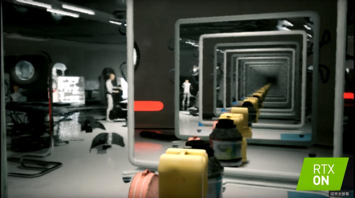 《Atomic Heart》的技術演示影片,通過兩面鏡子顯示 Ray Tracing 的威力,那個「無限反射」讓人感受到 RTX 的強大性能,也是使記者打算「換卡」的一個觸發點。
