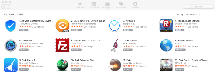 除了 Adware Doctor 外,Trend Micro 的 Dr.Cleaner 一樣排名很高。