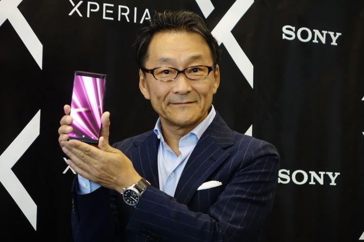 新任 Sony Mobile President 的岸田光哉出席於東京舉行的 XZ3 發布會