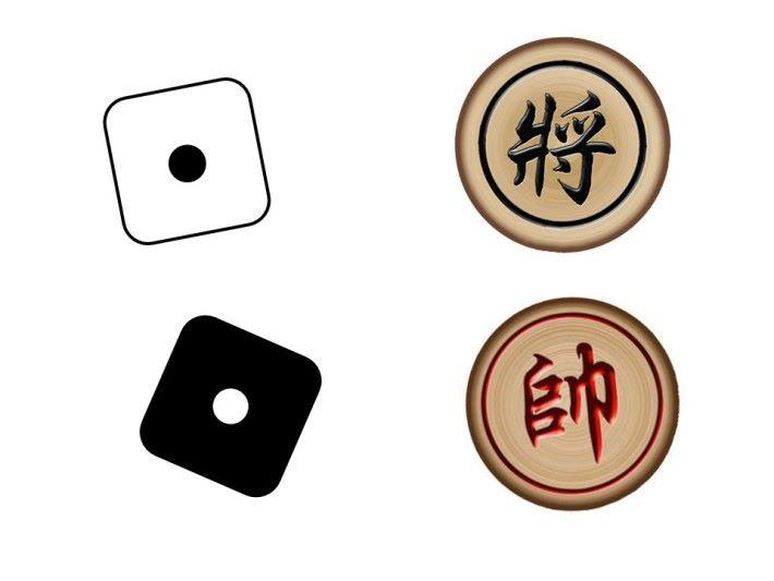 還有被分配的骰點數不能包含 1 點骰,因為 1 點骰在骰棋中的角色等同於中國象棋的「帥」和「將」只有一顆,是勝負的關鍵,被吃掉的一方就是輸家。