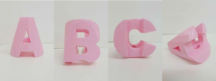 同一個立體打印成品,甚至可作三面效果。