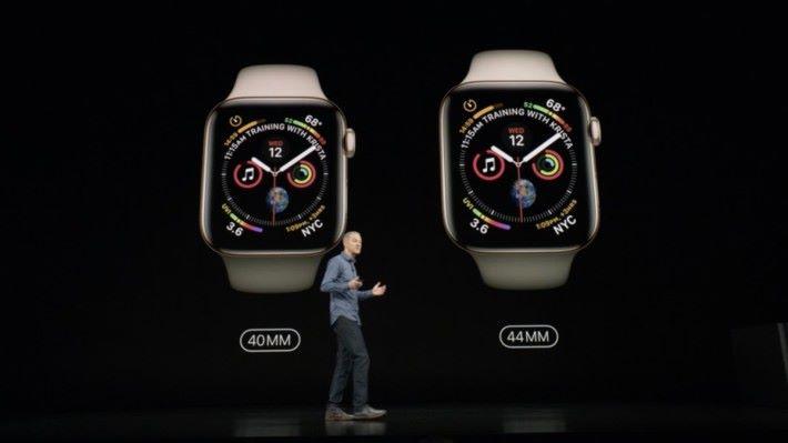 錶身也較以往大,變成40mm 及 44mm。