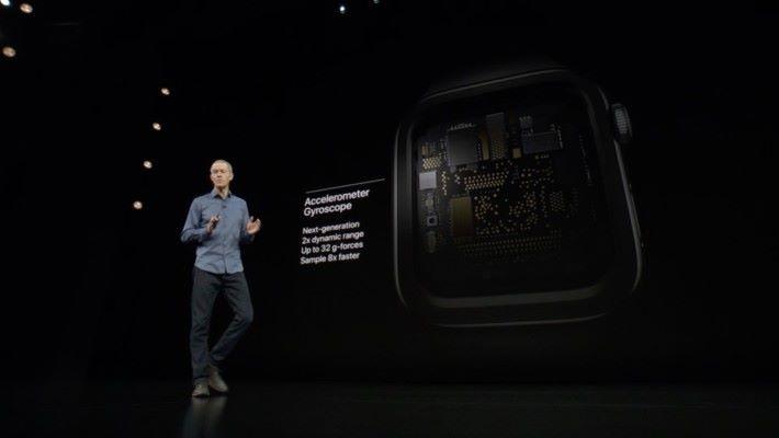 有新一代的 Accelerometer 及 Gyroscope,能感測到更多動作。