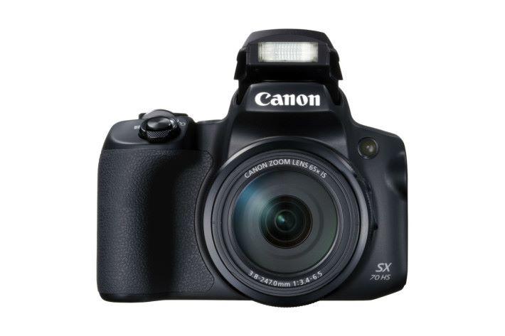 Canon PowerShot SX70 HS 擁有 65 倍光學變焦鏡頭。