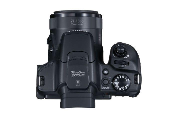 SX70 HS 最高可錄製 4K @ 30p MP4格式短片。