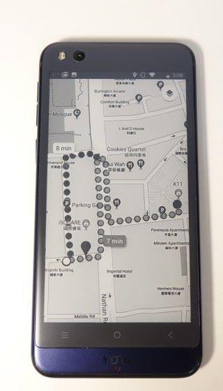 在沒電之前,預先在 E Ink 屏幕打開 Google Map 顯示回家路線,即使之後沒電都仍可長期顯示。