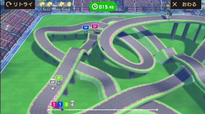 最多支援四個玩家的「電刷車模式(スロットカーモード)」