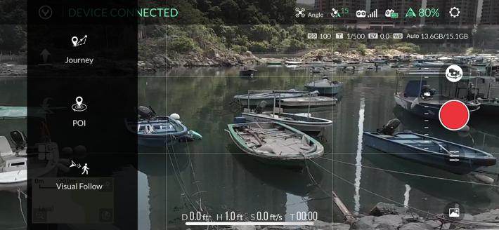 可使用 POI(Point of interest)或 Visual Follow 功能,多幾個拍攝玩法。