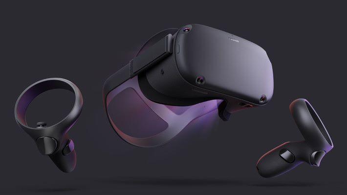 Oculus Quest 不需要接駁電腦或安裝手機就能進行遊戲,更不用安裝燈塔鏡頭就能感測空間和玩家動作。