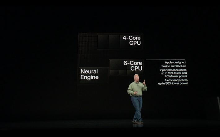 官方稱 A12 Neural Engine 每秒就可處理五兆個動作,配合 iOS12,預計性能會再有大幅提升,而且 A12 Bionic 更支援 Gigabit-class LTE 連線。