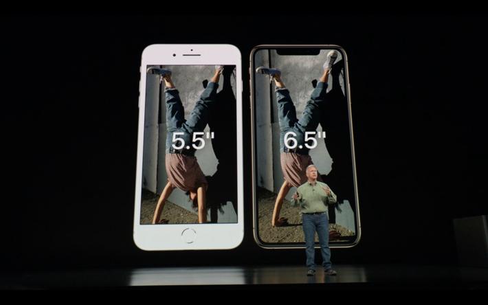 雖然叫 iPhone Xs Max,但機身原來同i Phone 8 Plus 一樣大,因此具有極高的屏佔比。