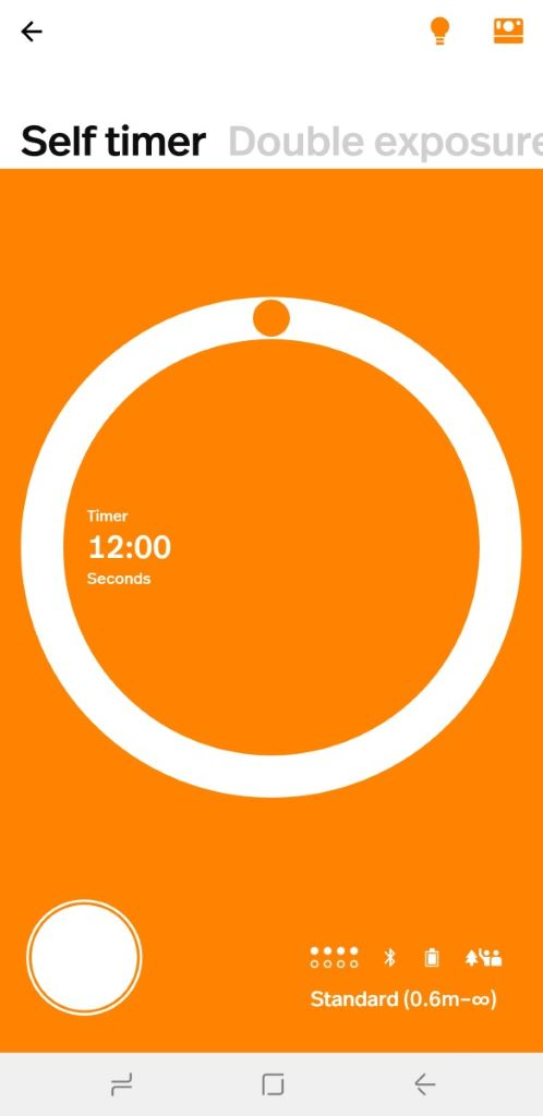 「自拍倒數 Self timer」有最多 12s 倒數計時。