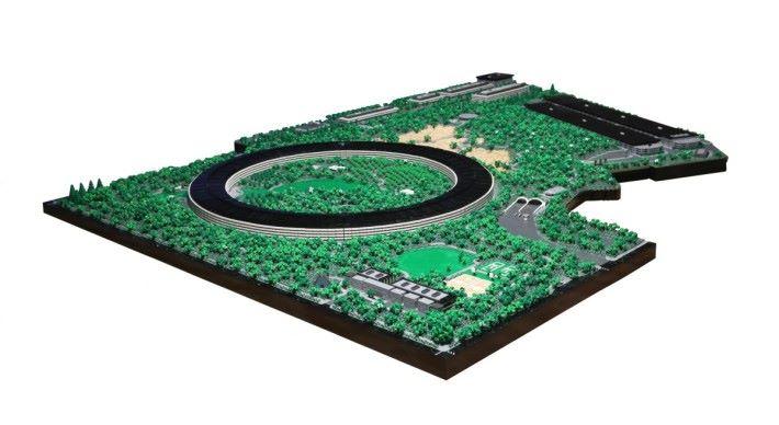 遠眺整個 Lego 製的園區,重現所有細節。