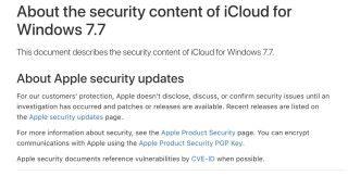 iCloud for Windows 發現 19 個 Webkit 漏洞,所以也同時推出版本 7.7 來加以修正。