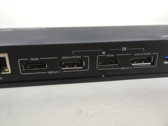 要連接 5K 屏幕,需要用上兩個 DisplayPort 接口。