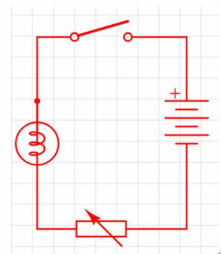 實驗一的電路圖。