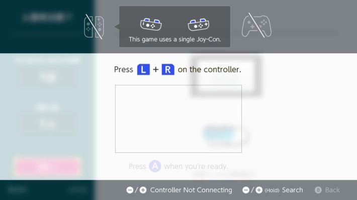 無得用 Pro 掣或者一對 Joy-Con,只可以用單 Joy-Con 玩。