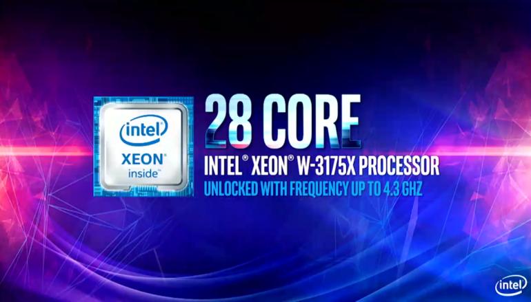 Intel 發表 28 核心 Xeon W-3175X 不視 Threadripper 2990WX 為對手