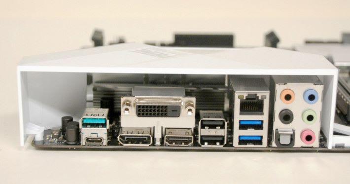 背板上包括豐富的輸出,從 DisplayPort 到 USB Type-C 等都應有盡有。