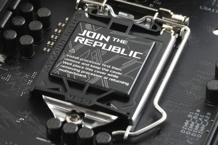 ROG Strix 風格的 LGA 1151 Socket 保護片。
