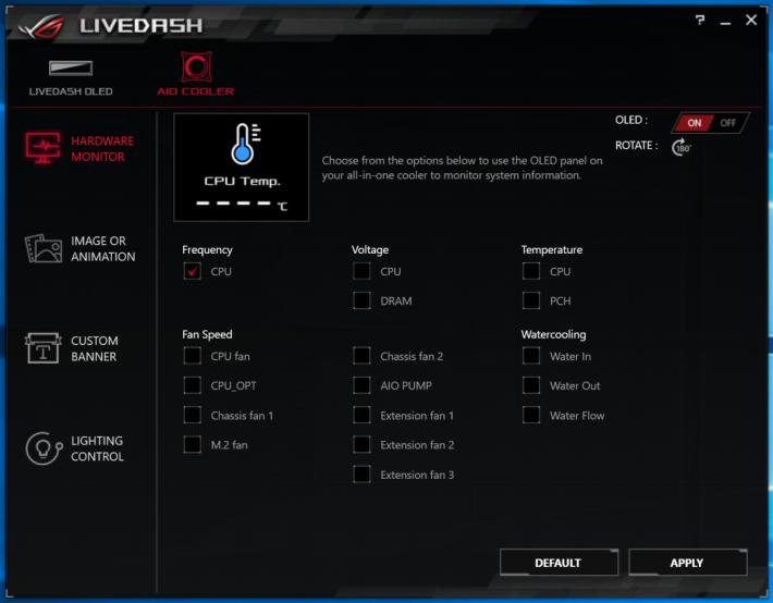 除了圖案外,還可選擇顯示 CPU 溫度、工作頻率等等資料。