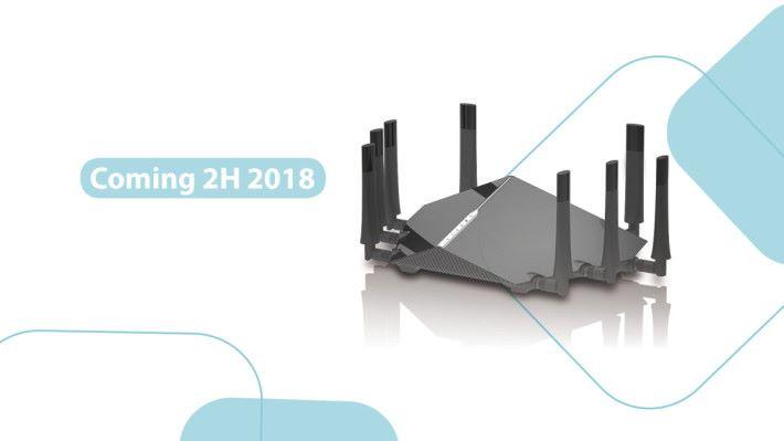 很多品牌都早已在展覽展示過新的 AX 制式 Router,不過至今都尚未在市場發售。(圖為 D-Link AX11000)