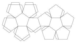 又想起數學堂的 12 面體展開圖。