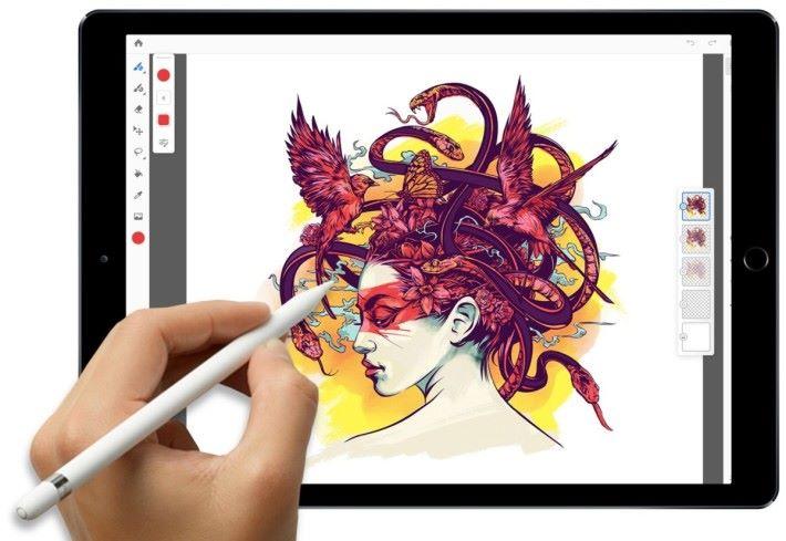 要畫插畫的話, Project Gemini iPad 版當然是對應更精準的 iPad Pro 和 Apple Pencil 了。