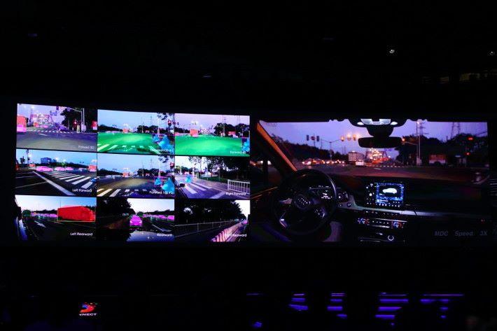 雙方合作在無錫測試自動駕駛汽車上路。
