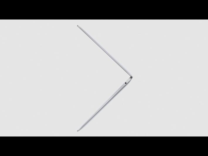 機身更薄更簡潔,有如之前的 12 吋 MacBook。
