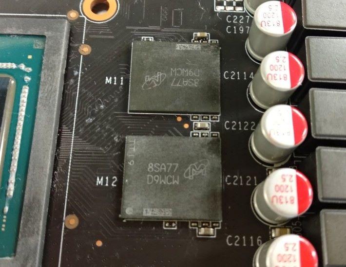 測試的 RTX 2070 採用 Micron 14Gbps GDDR6