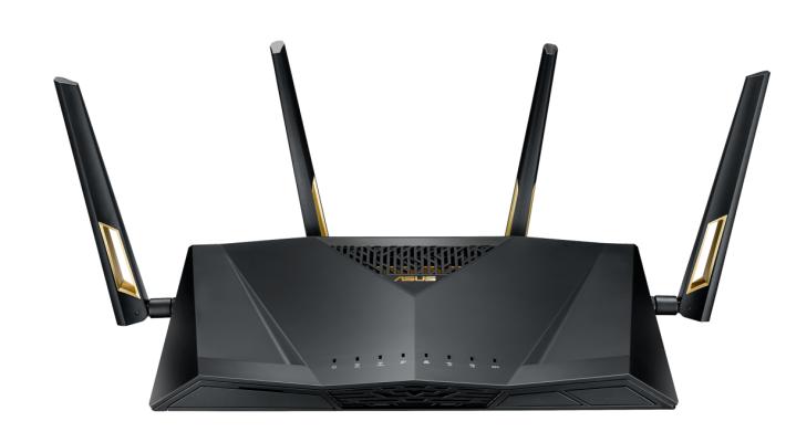 很多品牌都早已在展覽展示過新的 AX 制式 Router,不過至今都尚未在市場發售。(圖為 ASUS RT-AX88U)