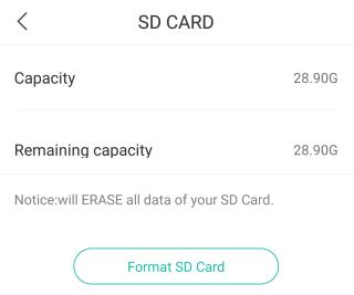 最簡單就是直插 microSD 卡,然後在手機 App 按「Format SD Card」(格式化),便能用到。
