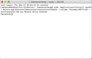 坊間有幾種不同的 UNIX 指令都是製作 macOS USB Boot Disk 的,如你的 Mac 不接受我們建議的一條,也可自行上網找尋一下。