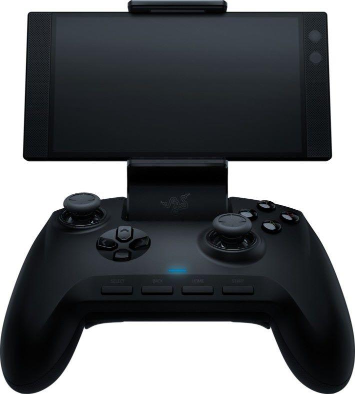 Raiju Mobile 有可調式手機支架。