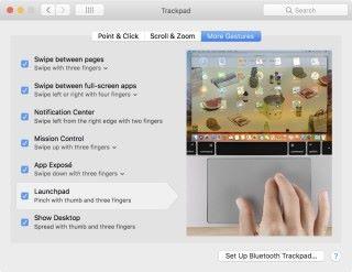 自從有了 Magic Trackpad 後,只要四指一捏就能叫出 Launchpad ,似乎比較方便。
