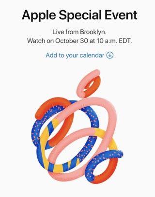 Apple 發出的邀請函