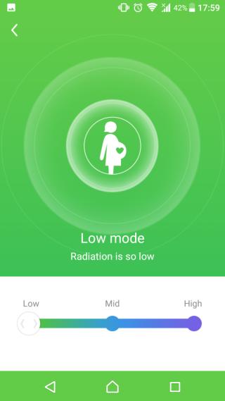 低功率減少輻射。