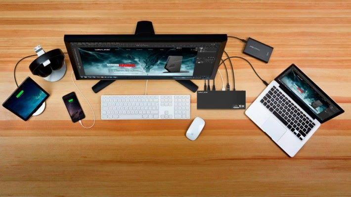 有個連接中樞,連接各種裝置都可以集中在一起,更有效利用筆電性能。