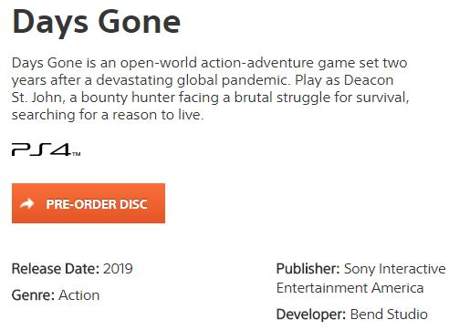 第一次延期於前初宣布改成 2019 發售。