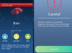 Pokemon Go 貼心設計 內建惡劣天氣警告
