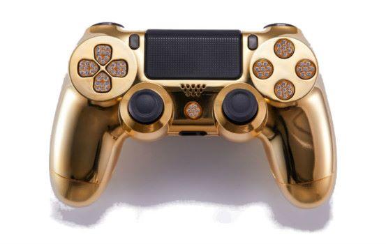 土豪最愛!美國廠商推出 24K 鍍金鑲鑽 PS4 手掣