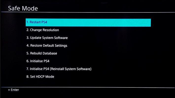 安全模式裡的重建資料庫可以回復遊戲中硬直和 frame rate 下降問題