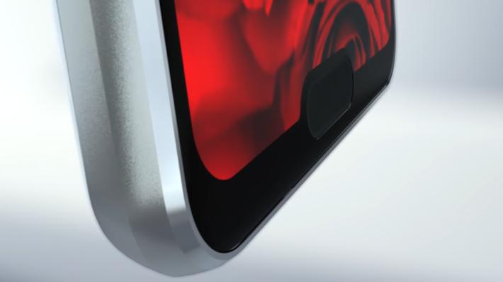 指紋辨識裝置在屏幕下方