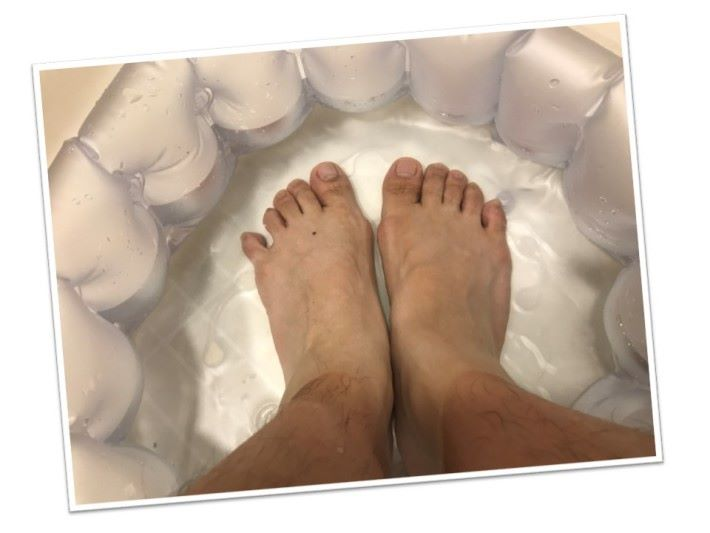 腳與人體距離較遠,經由熱水令血管擴張,以促進血液輸送到心臟。