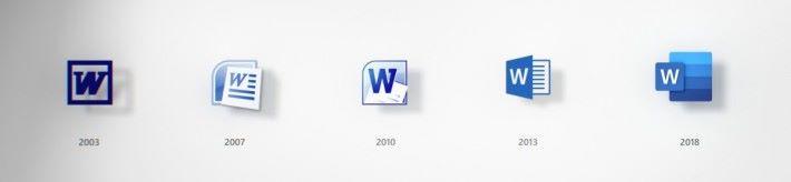 多年來 Word 標誌的變遷