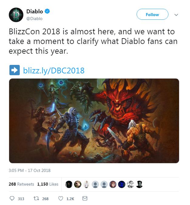 雖然活動前說「 Diablo fans can expect 」,不過大家都知道結果....