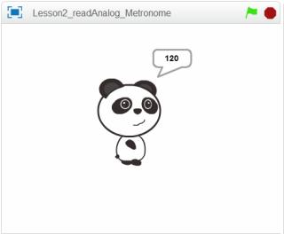 show panda 完成後,按節迫速度,熊貓會放大或縮小。